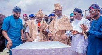 OYO State Photo News : Gov Makinde Commission 65km Moniya-Ijaye-Iseyin Road