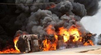 3 Dead, 13 Injured, 25 Vehicles Burnt As LPG Tanker Explodes In Lagos