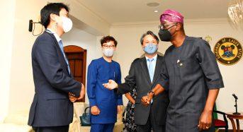 LASG PHOTOS NEWS : GOV. SANWO-OLU RECEIVES AMBASSADOR OF THE REPUBLIC OF KOREA TO NIGERIA, MR. KIM YOUNG-CHAE AT LAGOS HOUSE, MARINA, ON THURSDAY, JUNE 3, 2021