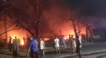 Breaking: 3 Dead, 13 Injured, 25 Vehicles Burnt As LPG Tanker Explodes In Lagos