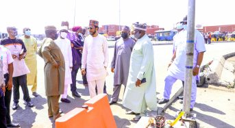 NPA Photo News: NPA MANAGEMENT INSPECTS THE VANDALIZED ETO INFRASTRUCTURE AT THE ABUJA GATE, TIN CAN PORT, LAGOS