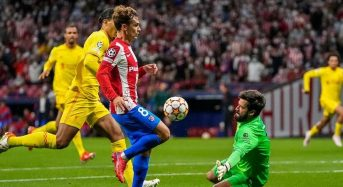 Liverpool beat Atletico Madrid 3-2 in Champions League as Griezmann sees red