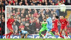 Manchester City fight back twice in thrilling 2-2 draw at Liverpool