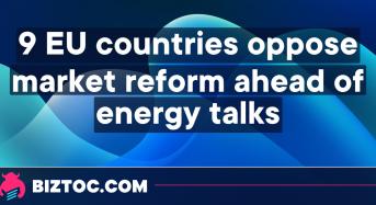9 EU countries oppose market reform ahead of energy talks